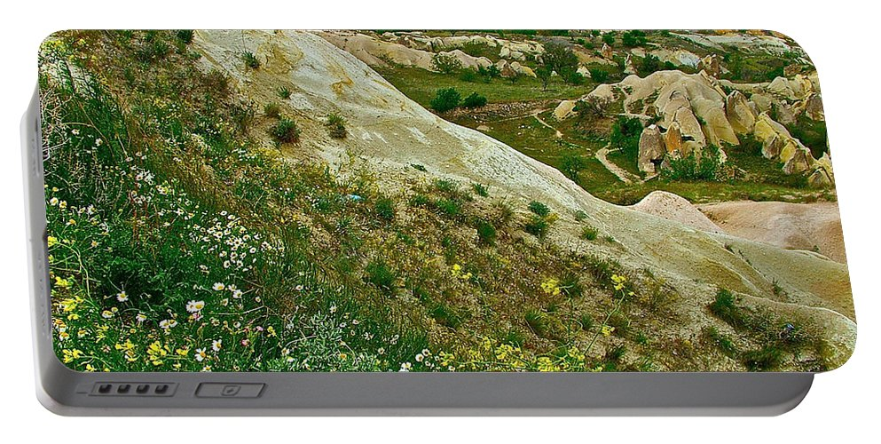 Cappadocia Landscape Portable Battery Charger featuring the photograph Cappadocia Landscape-turkey by Ruth Hager
