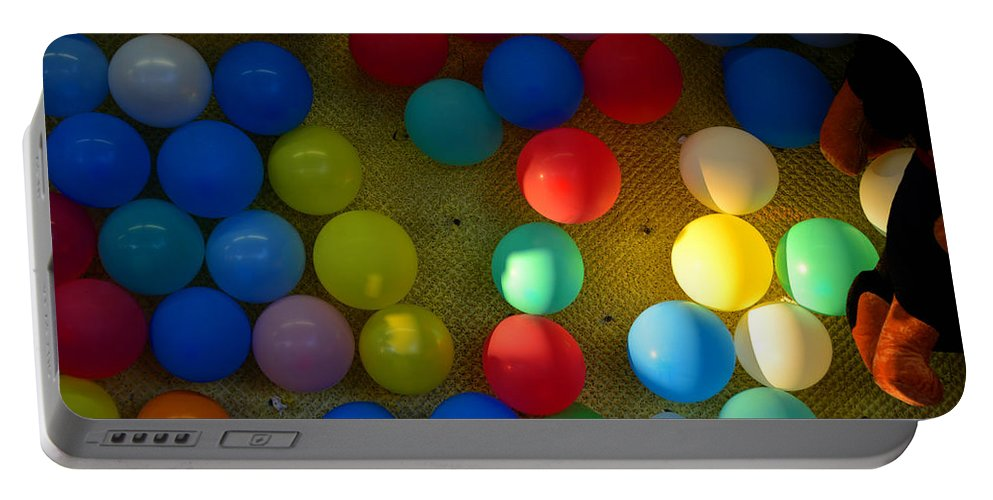 Carnival Balloons Portable Battery Charger featuring the photograph Carnival Balloons by David Lee Thompson