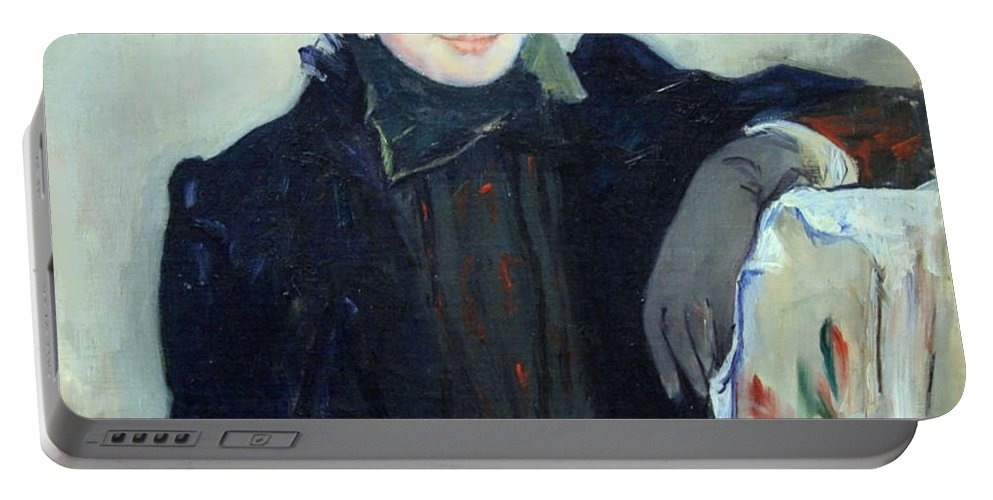 Portrait Of An Elderly Lady Portable Battery Charger featuring the photograph Cassatt's Portrait Of An Elderly Lady by Cora Wandel