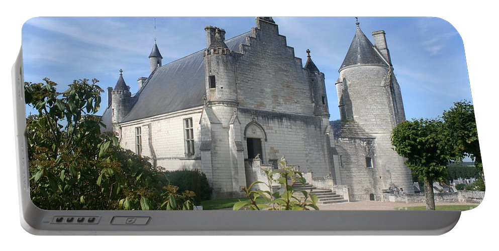 Castle Portable Battery Charger featuring the photograph Castle Loches - France by Christiane Schulze Art And Photography