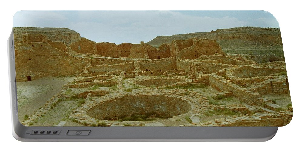 Chaco Canyon Portable Battery Charger featuring the photograph Chaco Canyon Ruins by Mike Wheeler