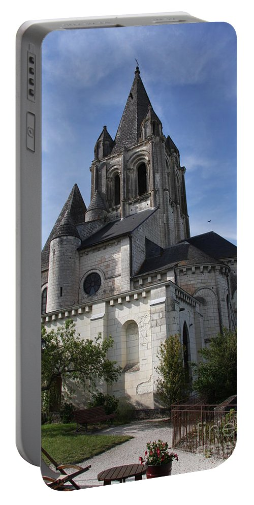 Church Portable Battery Charger featuring the photograph Church - Loches - France by Christiane Schulze Art And Photography