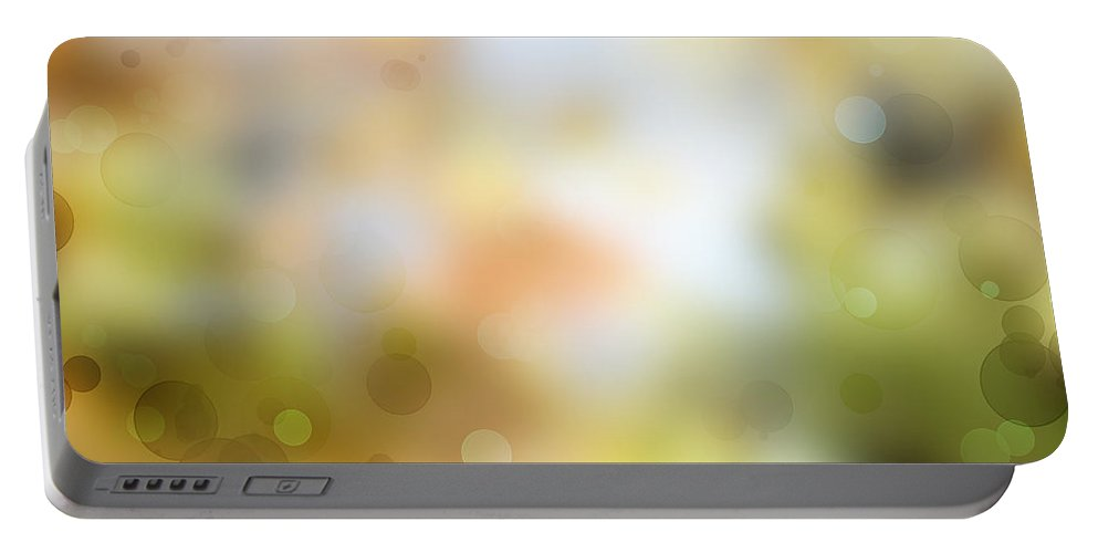Yellow Portable Battery Charger featuring the photograph Circles Background by Les Cunliffe
