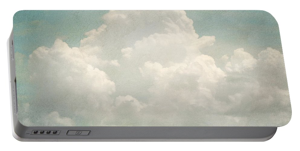 Brett Portable Battery Charger featuring the digital art Cloud Series 3 Of 6 by Brett Pfister