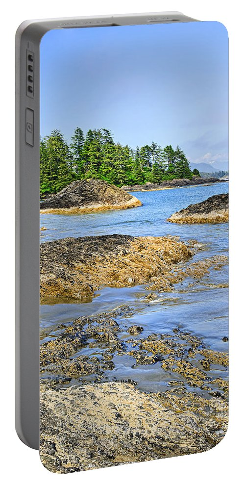 Pacific Portable Battery Charger featuring the photograph Coast Of Pacific Ocean On Vancouver Island by Elena Elisseeva