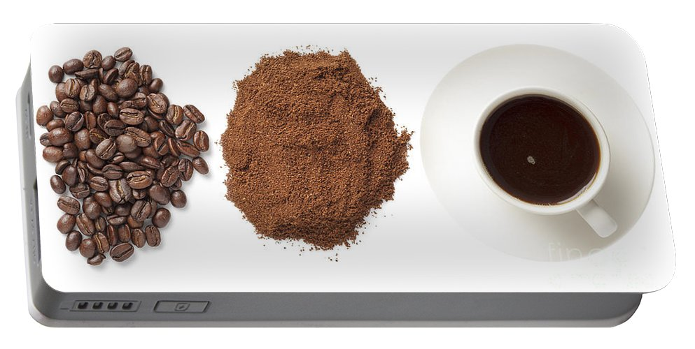 Beans Portable Battery Charger featuring the photograph Coffee by Julie Woodhouse