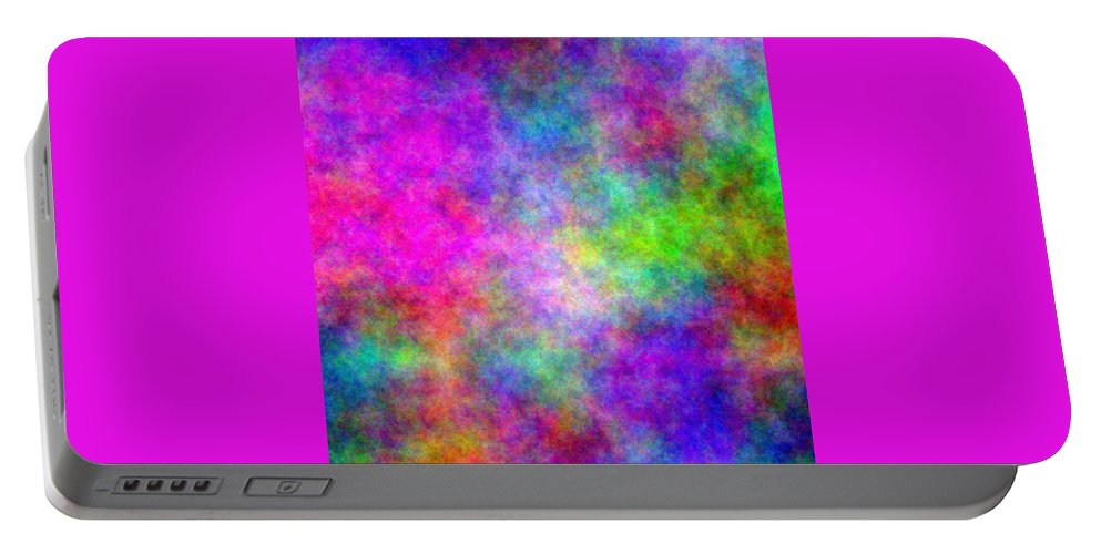 Abstract Portable Battery Charger featuring the digital art Colorful Abstract by Cassie Peters