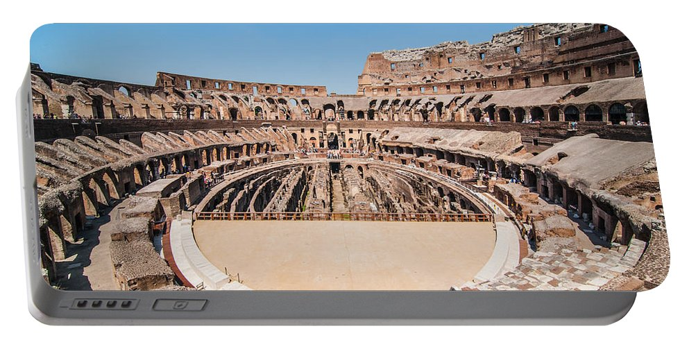 Amphitheater Portable Battery Charger featuring the photograph Colosseum by Amel Dizdarevic