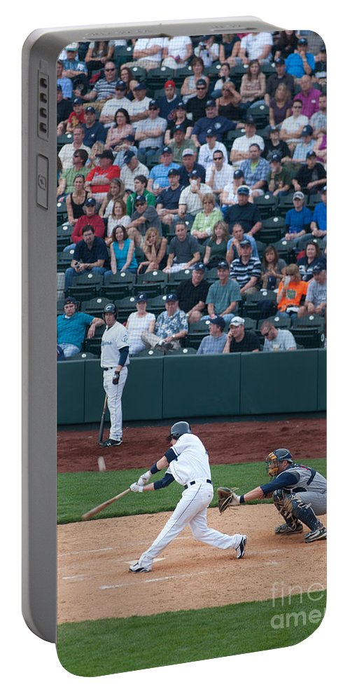 Columbus Clippers Portable Battery Charger featuring the photograph D24w-472 Huntington Park Photo by Ohio Stock Photography