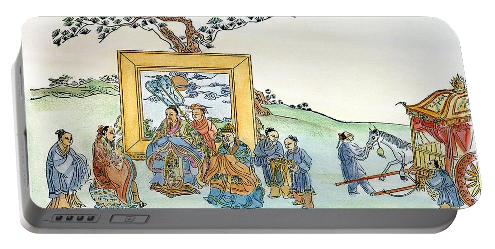 5th Century B.c Portable Battery Charger featuring the drawing Confucius (c551-479 B by Granger