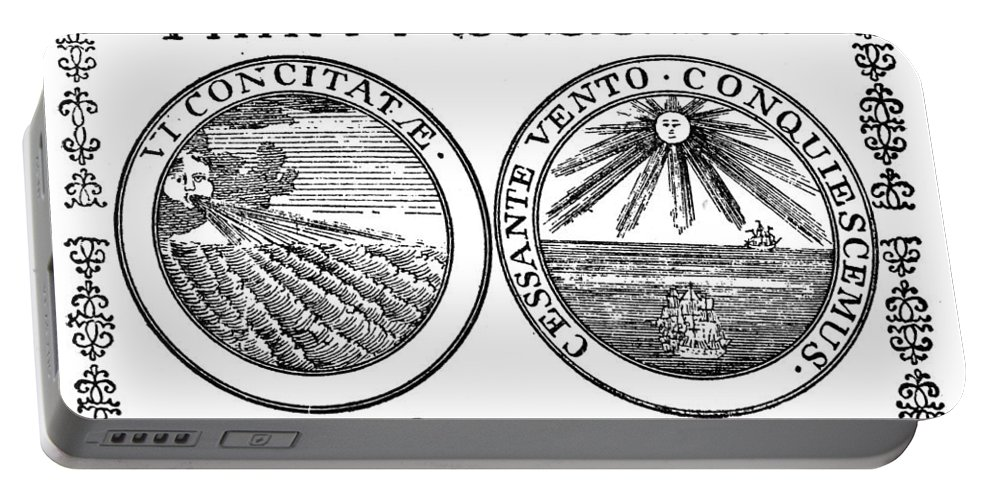 1776 Portable Battery Charger featuring the photograph Continental Banknote, 1776 by Granger