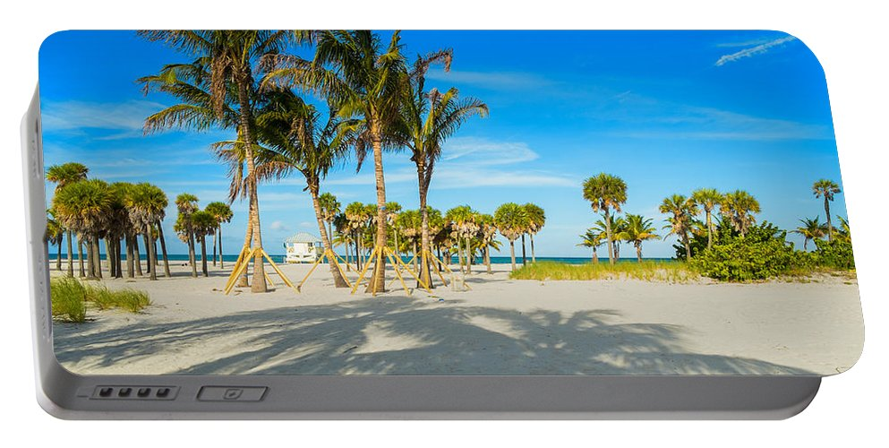 Crandon Park Beach Portable Battery Charger featuring the photograph Crandon Park Beach by Raul Rodriguez