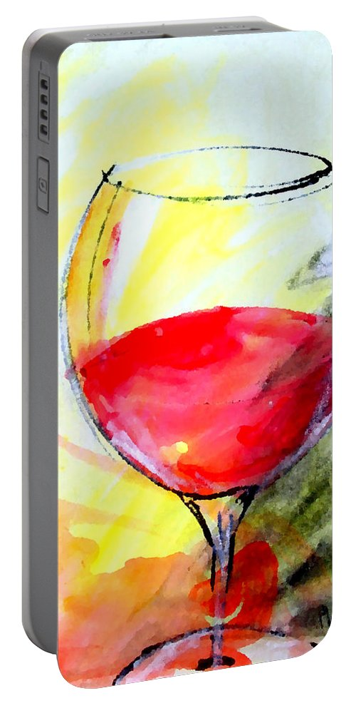 Cristallo Portable Battery Charger featuring the painting Cristallo by Marcello Cicchini