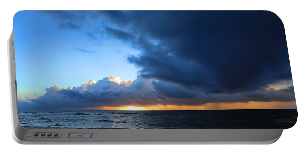 Sky Portable Battery Charger featuring the photograph Dawn Over The Ocean by Paul Fell