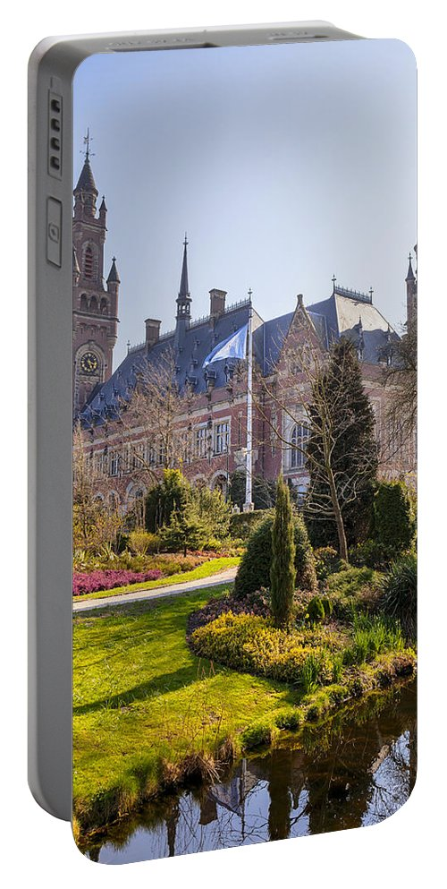 Peace Palace Portable Battery Charger featuring the photograph Den Haag by Joana Kruse