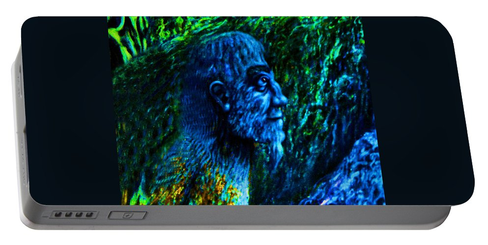 Genio Portable Battery Charger featuring the digital art Detail From Shaman by Genio GgXpress