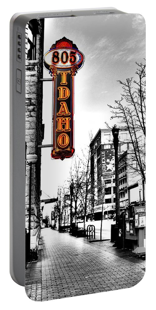 Boise Portable Battery Charger featuring the photograph Downtown Boise by Image Takers Photography LLC - Laura Morgan
