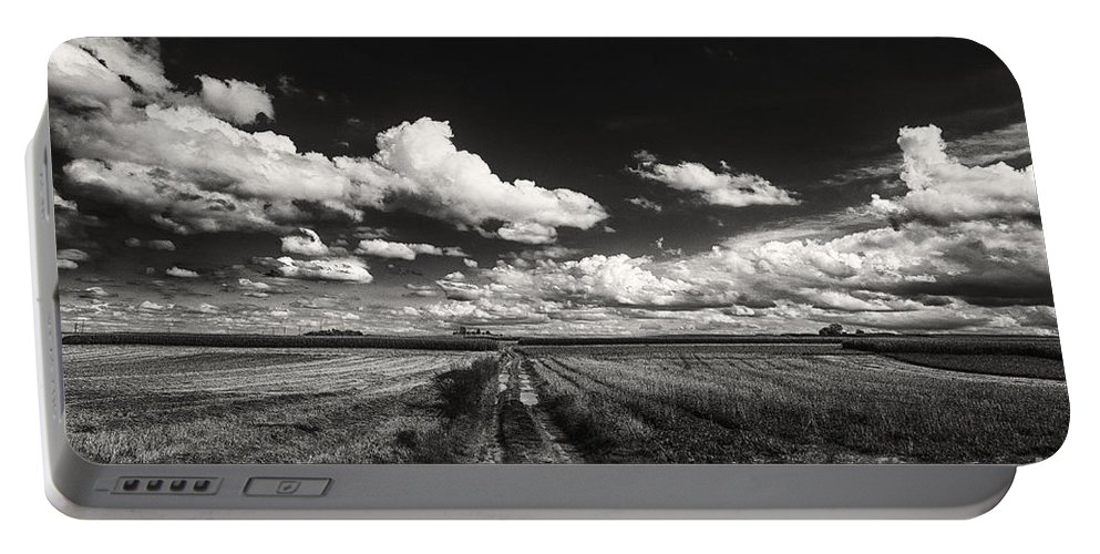 Blue Skies Landscape Portable Battery Charger featuring the photograph Drifting Clouds by Brothers Beerens