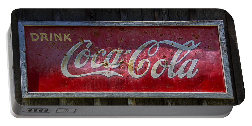 Coke Portable Battery Charger featuring the photograph Drink Coca Cola by Garry Gay