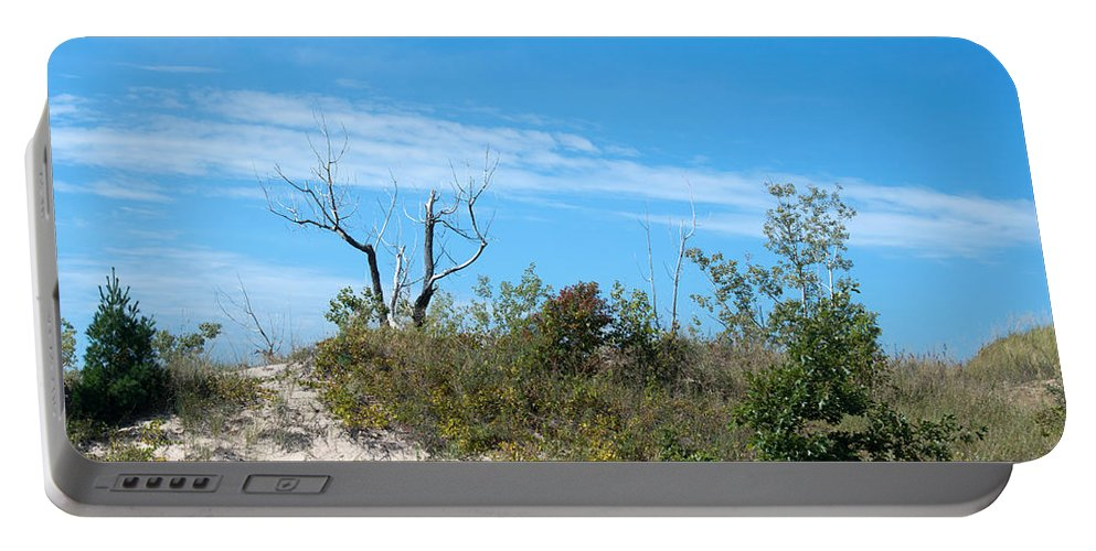 Tree Portable Battery Charger featuring the photograph Dune Tree by Linda Kerkau