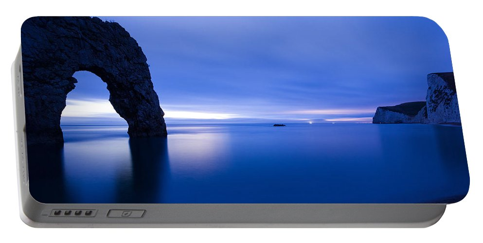 Durdle Portable Battery Charger featuring the photograph Durdle Door At Dusk by Ian Middleton