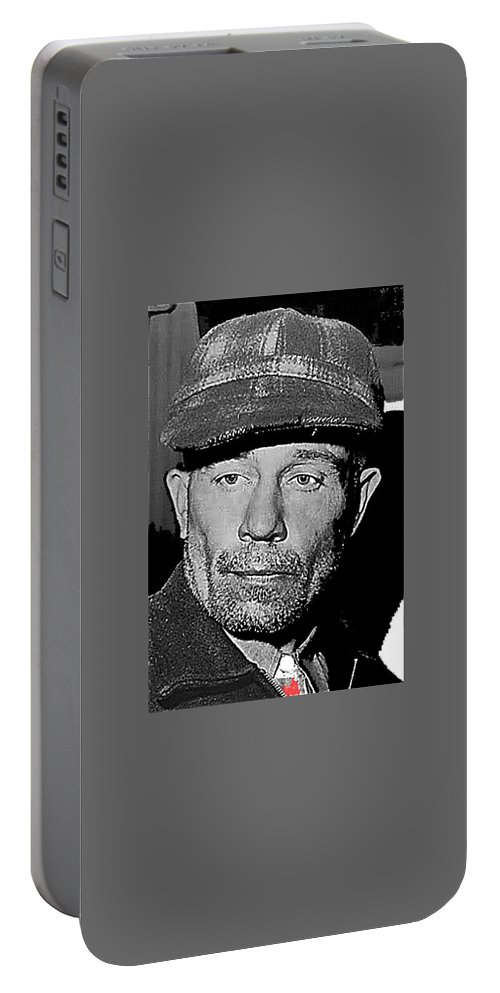 Ed Gein The Ghoul Who Inspired Psycho Plainfield Wisconsin C.1957 Portable Battery Charger featuring the photograph Ed Gein The Ghoul Who Inspired Psycho Plainfield Wisconsin C.1957-2013 by David Lee Guss