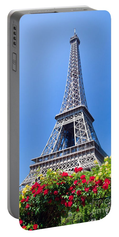Eiffel Portable Battery Charger featuring the photograph Eiffel Tower by Michal Bednarek