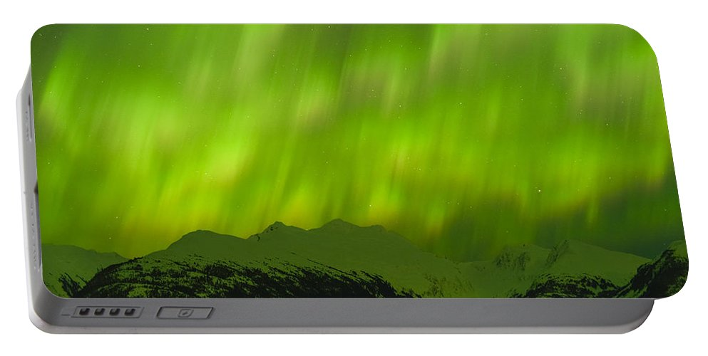 Aurora Portable Battery Charger featuring the photograph Electric by Ted Raynor