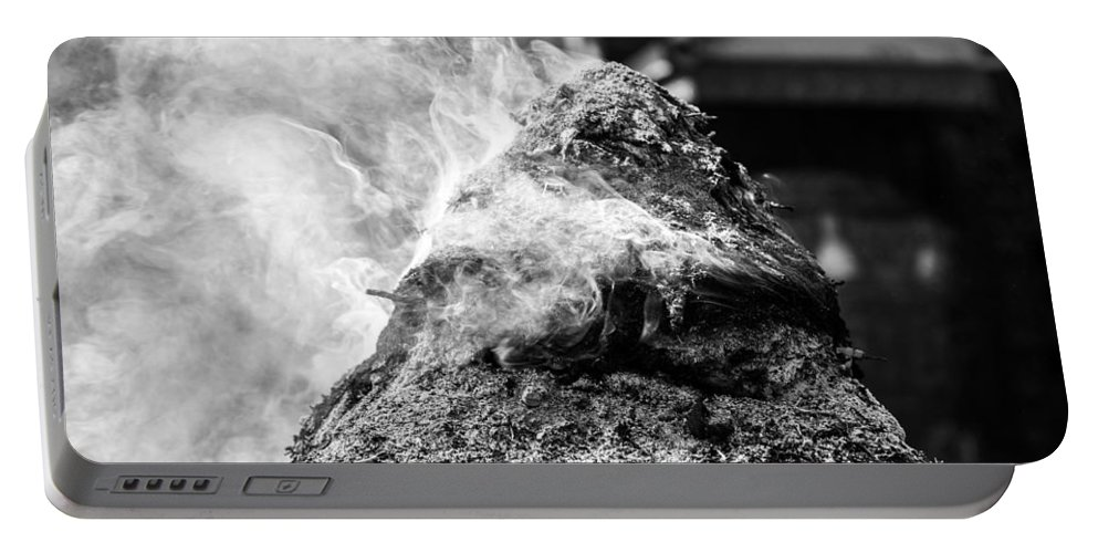 Incense Portable Battery Charger featuring the photograph Encens Burning by Dutourdumonde Photography