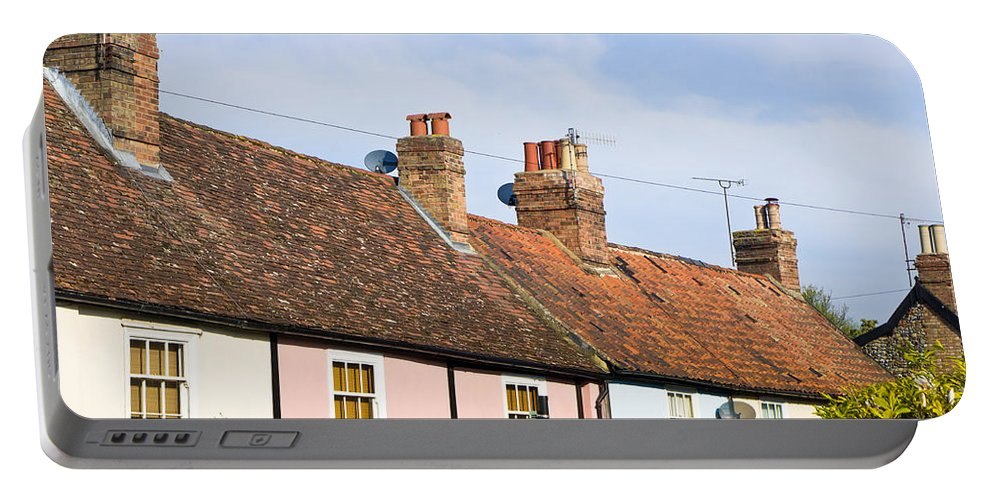 Area Portable Battery Charger featuring the photograph English Cottages by Tom Gowanlock