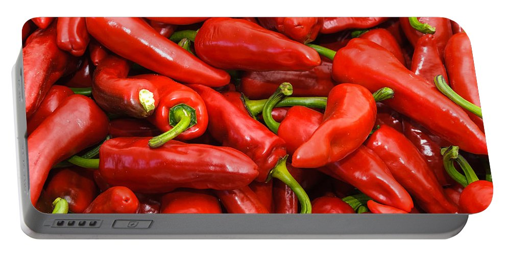 Agriculture Portable Battery Charger featuring the photograph Espelette Peppers by Dutourdumonde Photography