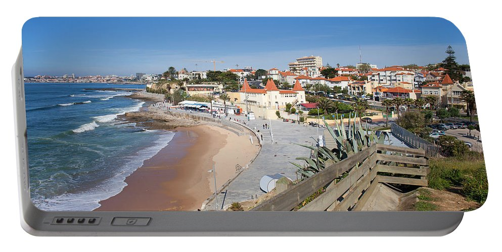 Estoril Portable Battery Charger featuring the photograph Estoril Beach In Portugal by Artur Bogacki