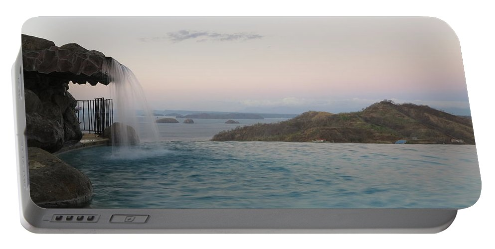 Waterfall Portable Battery Charger featuring the photograph Evening Overlook by Jessica Myscofski