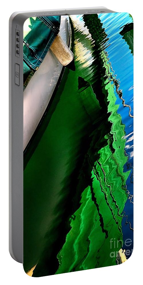 Abstract Portable Battery Charger featuring the photograph Extravaganza by Lauren Leigh Hunter Fine Art Photography