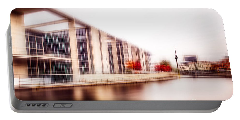 Alex Portable Battery Charger featuring the photograph Fall In The City by Hannes Cmarits
