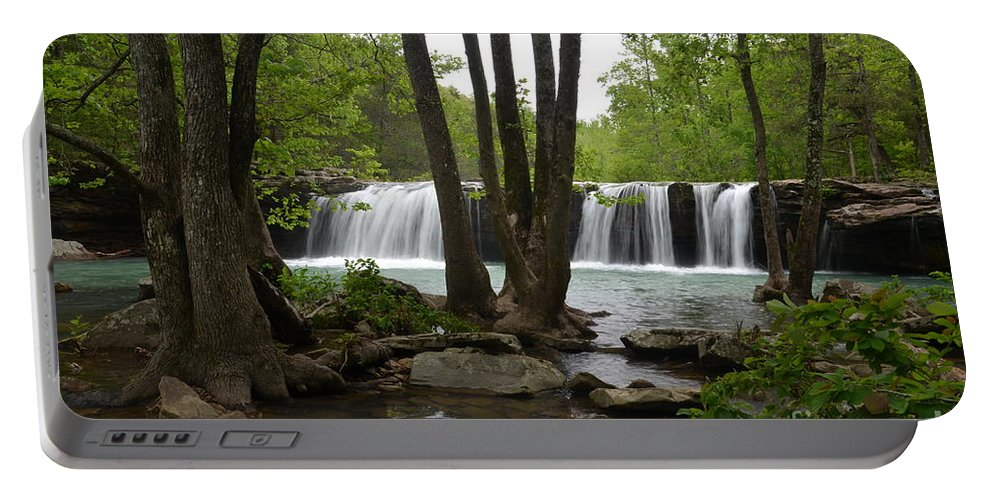 Waterfalls Portable Battery Charger featuring the photograph Falling Water by Deanna Cagle