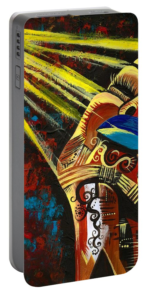 Artbyria Portable Battery Charger featuring the photograph Feeling Good by Artist RiA