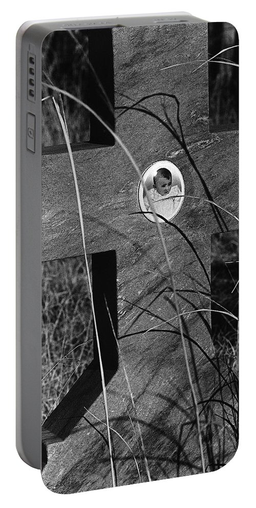 Film Noir Dana Andrews Linda Darnell Fallen Angel 1945 Child's Grave Ghost Town Golden Nm 1972 Portable Battery Charger featuring the photograph Film Noir Dana Andrews Linda Darnell Fallen Angel 1945 Child's Grave Ghost Town Golden Nm 1972 by David Lee Guss