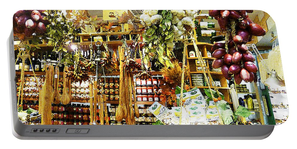 Garlic Portable Battery Charger featuring the photograph Florence Market by Irina Sztukowski