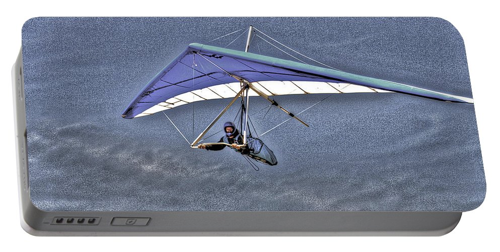 Beach Portable Battery Charger featuring the photograph Flying by SC Heffner
