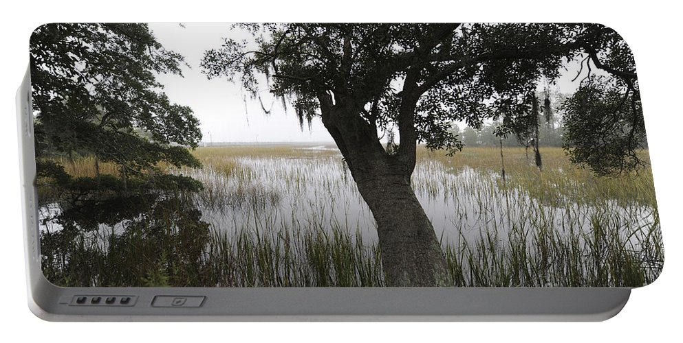 Fog Portable Battery Charger featuring the photograph Fog On The Water by Dale Powell