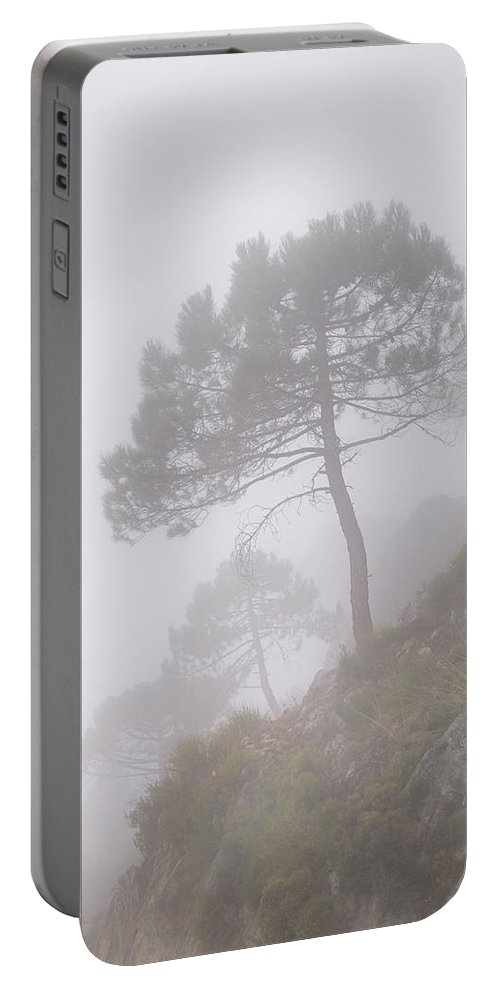 Retro Portable Battery Charger featuring the photograph Foggy Morning by Guido Montanes Castillo