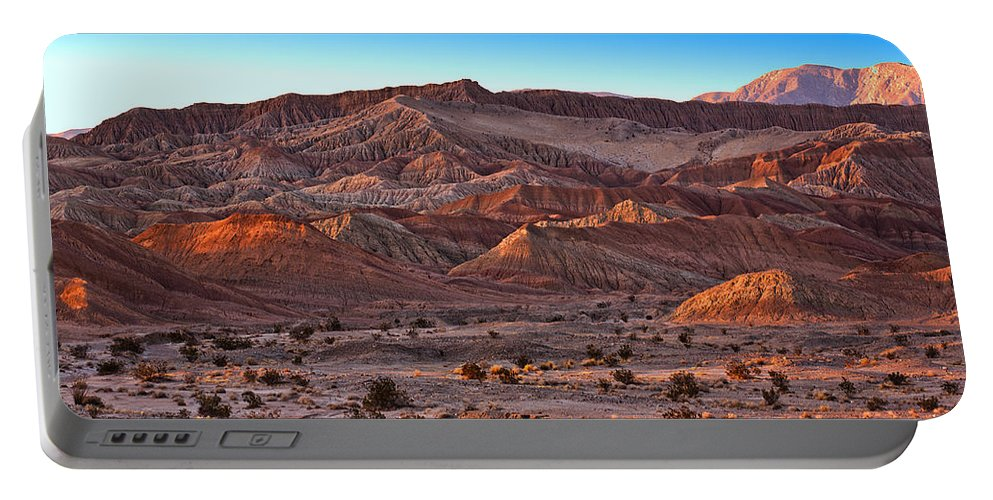 Desert Portable Battery Charger featuring the photograph Font's Point by Peter Tellone
