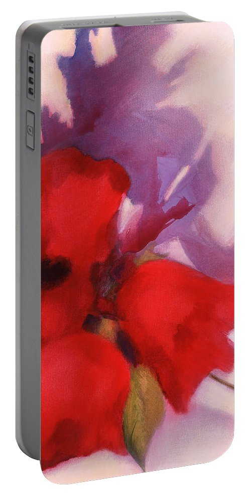 Portable Battery Charger featuring the painting Forgive Me Not by Jerome Lawrence