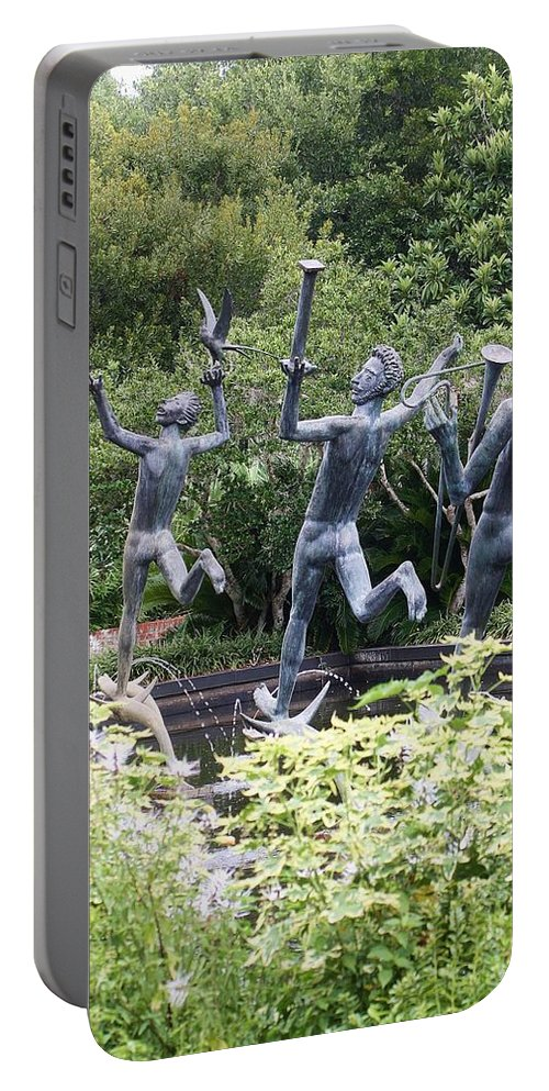 Statue Portable Battery Charger featuring the photograph Four Muses by Chuck Hicks