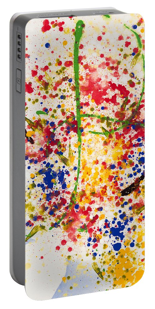 Colorchrome Scans Portable Battery Charger featuring the painting Freedom by Jerome Lawrence