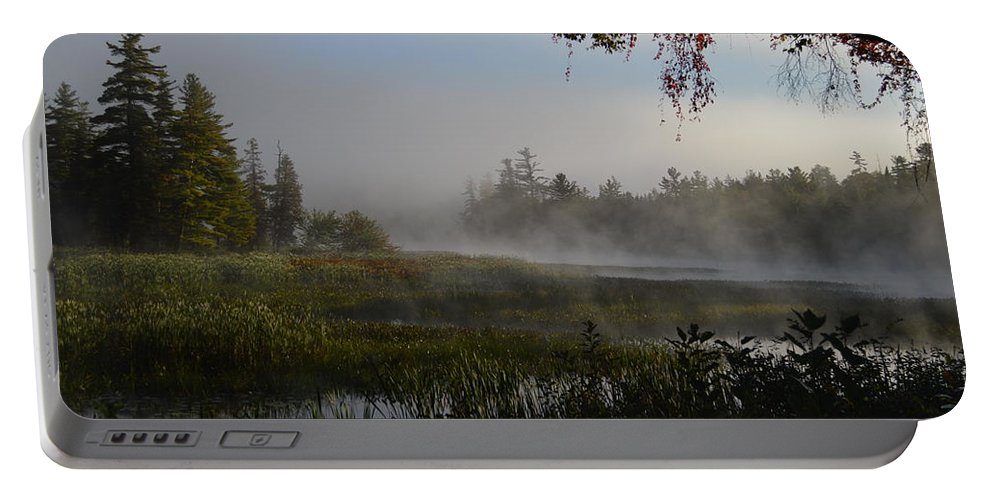 Marsh Portable Battery Charger featuring the photograph Frosty Dawn by Thomas Phillips