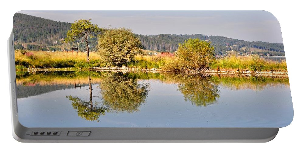 George Town Portable Battery Charger featuring the photograph George Town Lake Reflections by Image Takers Photography LLC - Laura Morgan