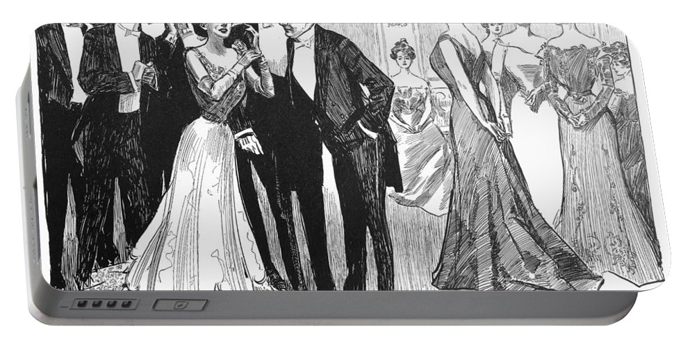 1900 Portable Battery Charger featuring the photograph Gibson Girls, 1900 by Granger