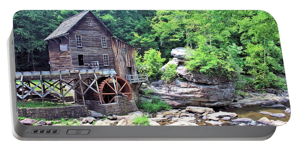 5239 Portable Battery Charger featuring the photograph Glade Creek Grist Mill by Gordon Elwell